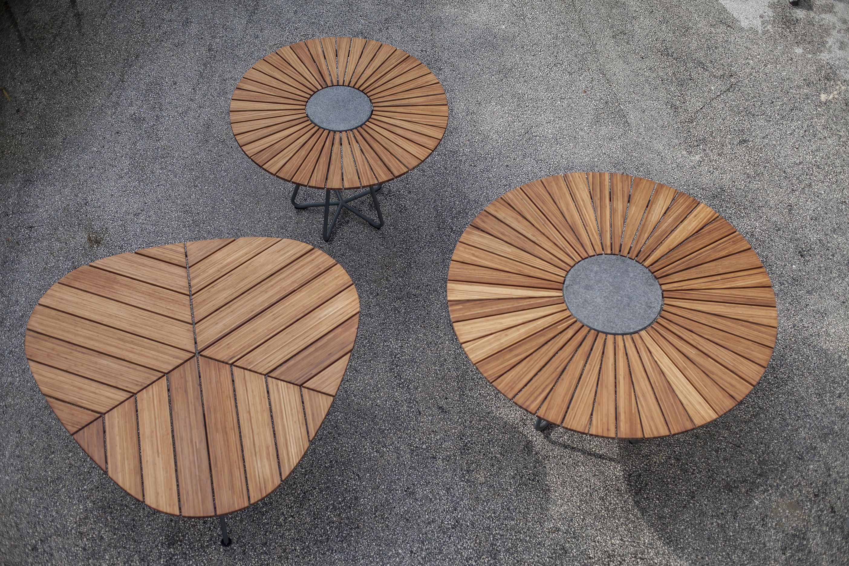 Houe Circle Round Table Grey Natural Wood Made In Design Uk In