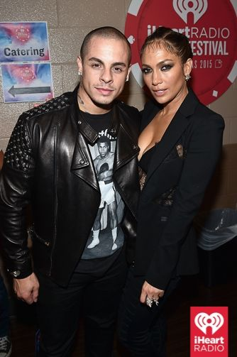 6ddb090707dc6 Casper Smart and Jennifer Lopez backstage at the iHeartRadio Music Festival  at the MGM Grand Garden Arena in Las Vegas on Saturday
