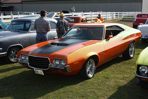 Orange Candy Torino Ford Racing Grand Torino Classic Cars Muscle