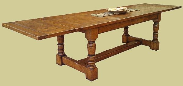 Extendable Oak Refectory Table