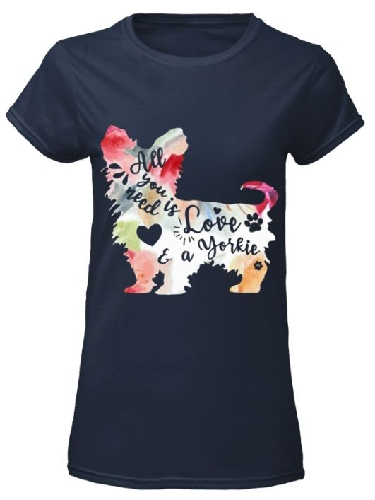 Download All You Need is Love and a Yorkie shirt, long sleeved ...