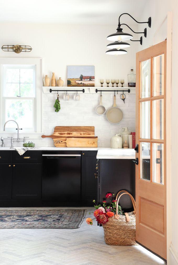 Noir et blanc dans la cuisine Deco de la maison / Home decoration