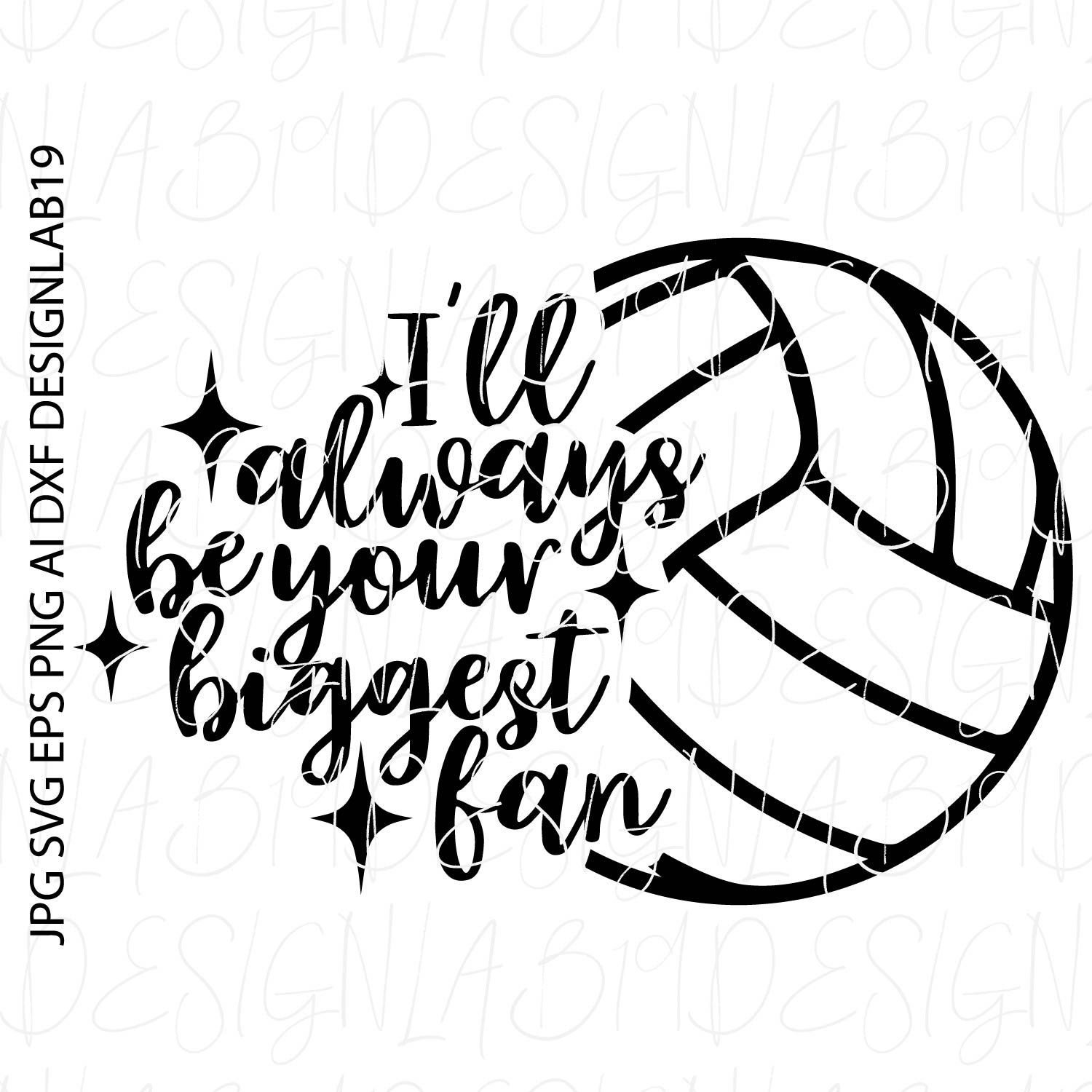 Ill Always Be Your Biggest Fan Volleyball Bump Set Spike Court Etsy Netball Volleyball Netball Net