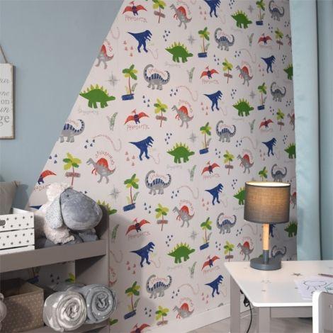 Papier peint dinosaures pour chambre d 39 enfant deco - Papier peint pour chambre d enfant ...