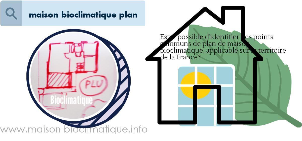 maison bioclimatique plan Travaux, extension, aménagement et