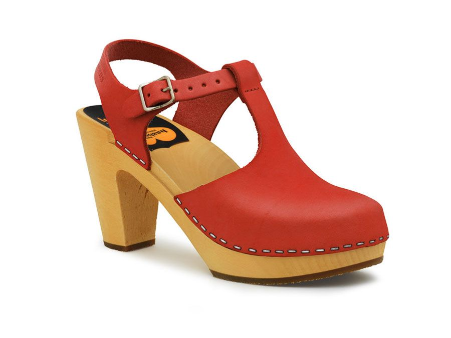T-Strap Sky High (Red) - Swedish Hasbeens