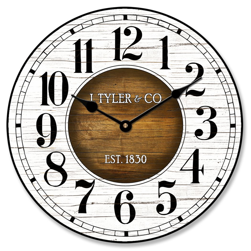 old paint vintage wood wall clock ultra quiet battery on wall clocks battery operated id=44232