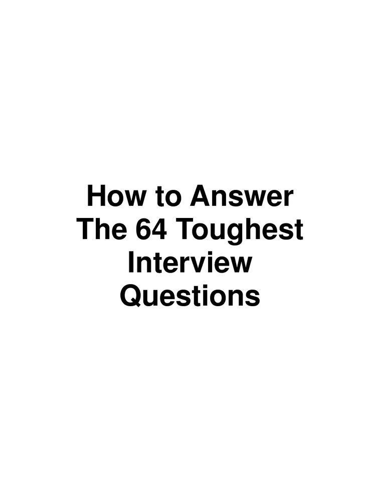 scope of work template better me Pinterest Tough interview - interview question template