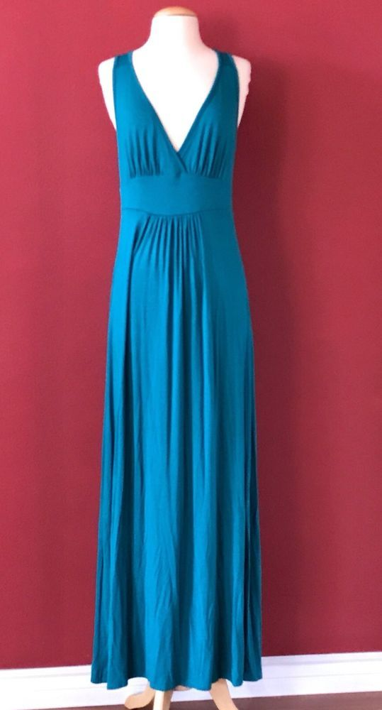 LOVEAPPELLA Teal Green Sleeveless Maxi Dress Size PL PETITE LARGE  #Loveappella #Maxi #Casual