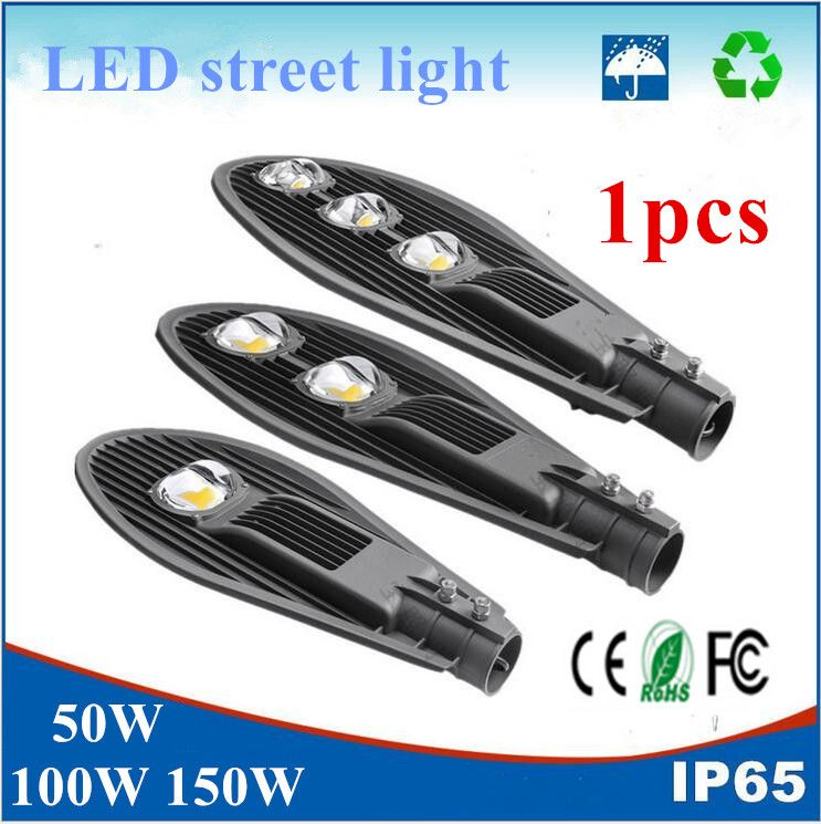 1pcs Outdoor Lighting Led Street Light 50w 100w 150w Led Streetlight Cob Street Lamp Waterproof Ip65 Ac85 2 Street Light Led Outdoor Lighting Led Street Lights