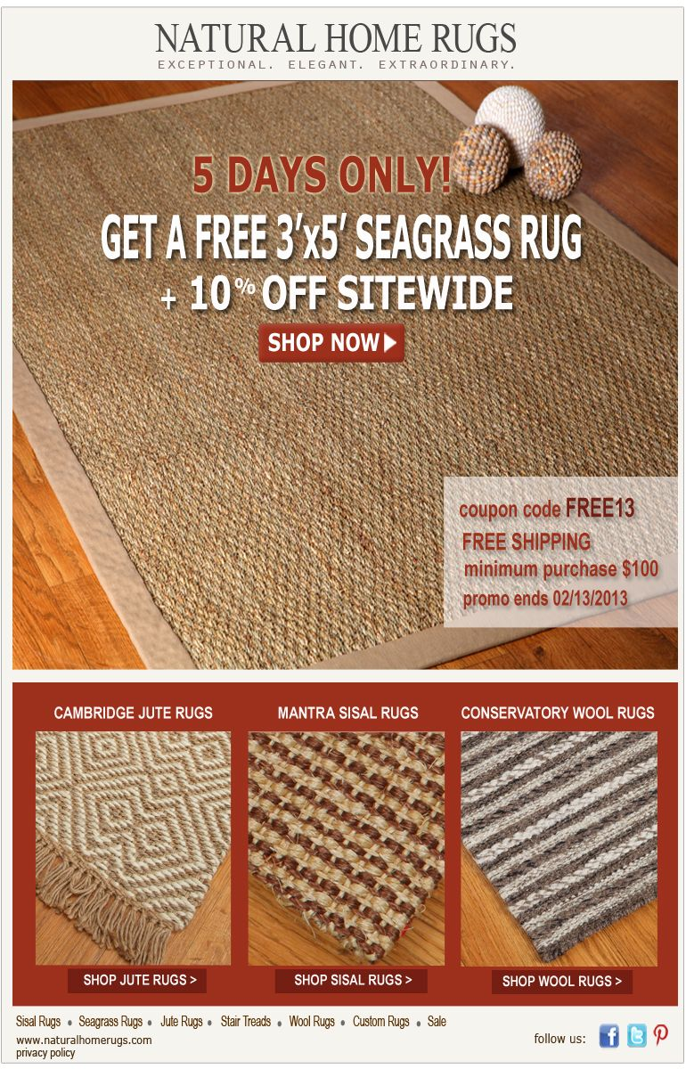 Free 3x5 Seagr Rug 10 Off Sitewide Use Coupon Free13 Http