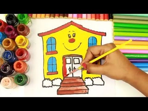 Drawing Amp Coloring Homes Houses Fun With Paint Colors Water