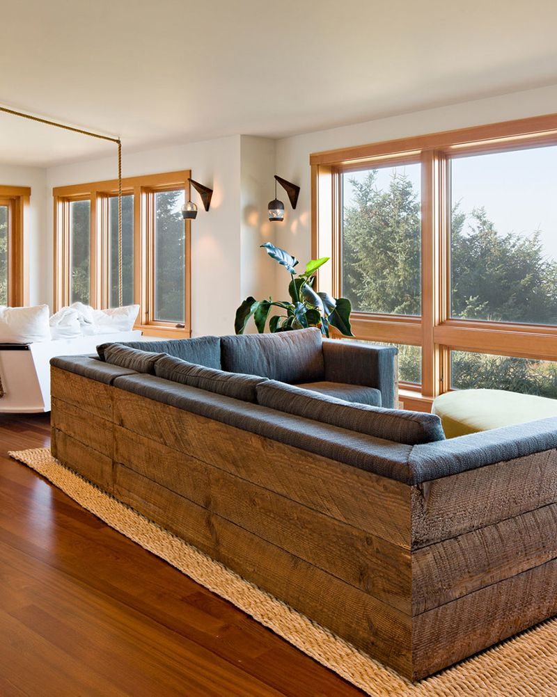 Rustic Modern Sofa Designs   Sofa design, Modern wood ...