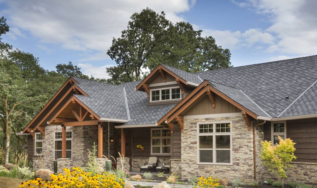 Mascord House Plan 1250 The Westfall Rustic House Plans Craftsman House Plans Ranch House Plans
