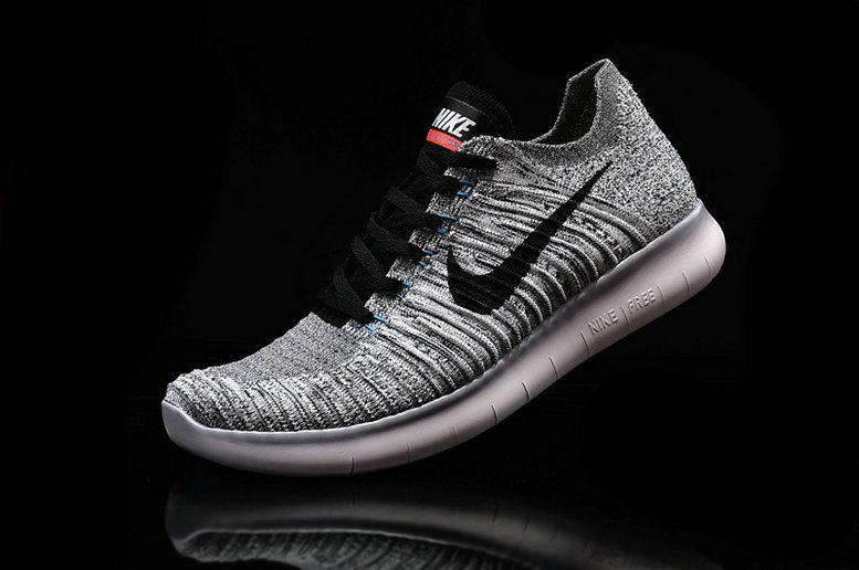 Mens Nike Free Rn Flyknit Steel Grey Black Pure Platinum TopDeals