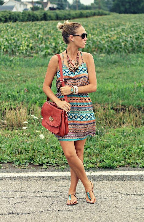 Tribal Boho Print Dress ♥Click and Like our facebook page♥