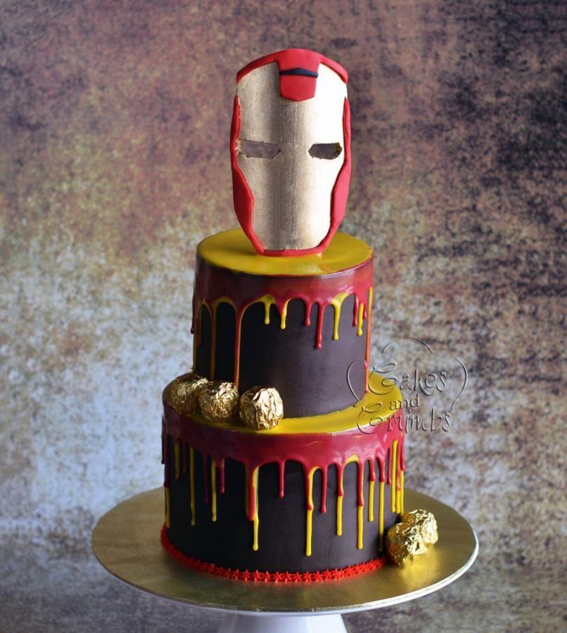 Ironman Drip Cake Cake By Hima Bindu With Images Drip