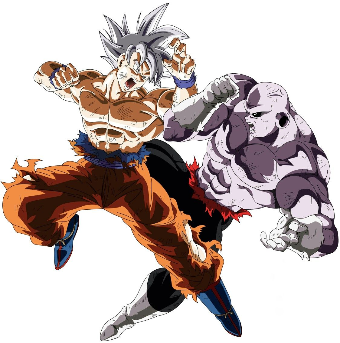 Goku Ultra Instinto Vs Jiren Figuras De Goku Dragones Y Dibujos