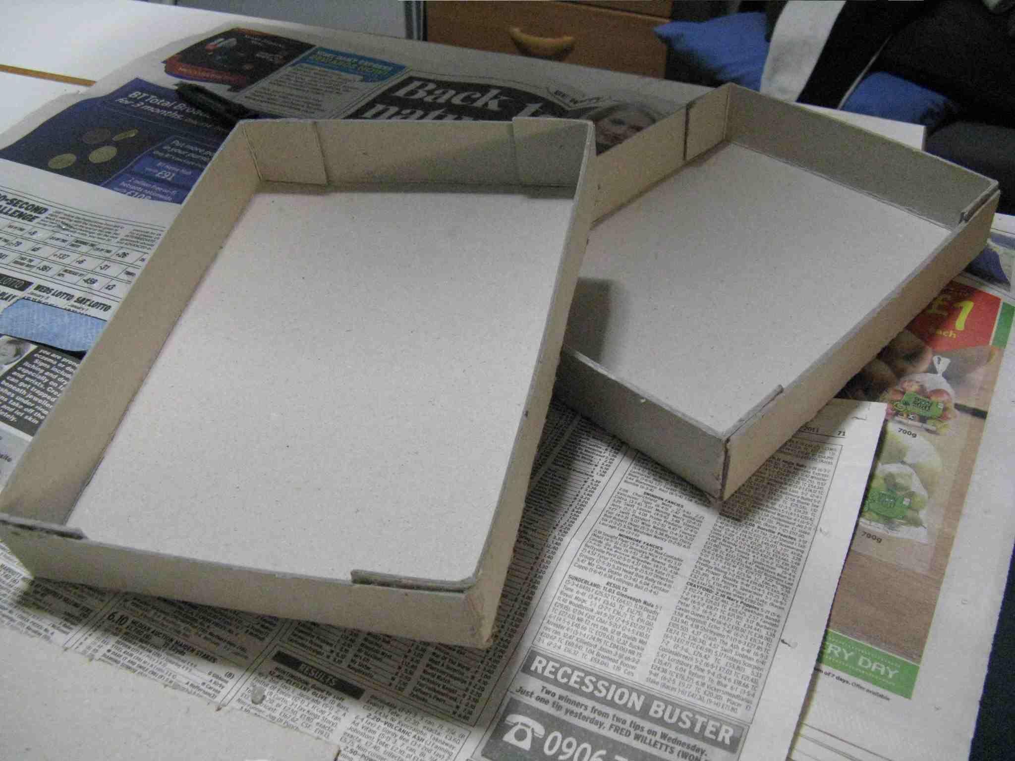 How to make a cardboard box cardboard boxes template - Como hacer una caja de carton ...