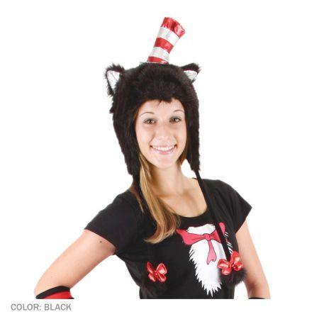 Cat in the Hat Furry Peruvian Beanie Hat Novelty hats - dr seuss halloween costume ideas