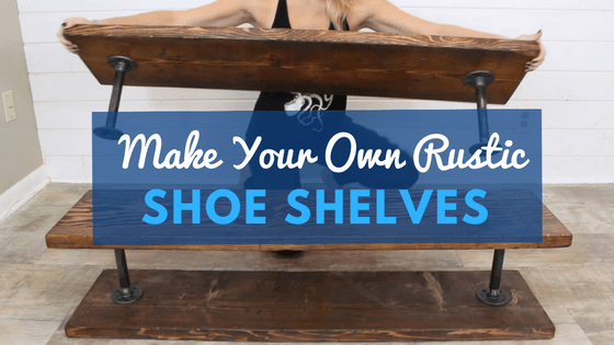 Build a DIY Rustic Industrial Shoe Storage Shelving Unit that Moves! - The Saw Guy#build #diy #guy #industrial #moves #rustic #shelving #shoe #storage #unit