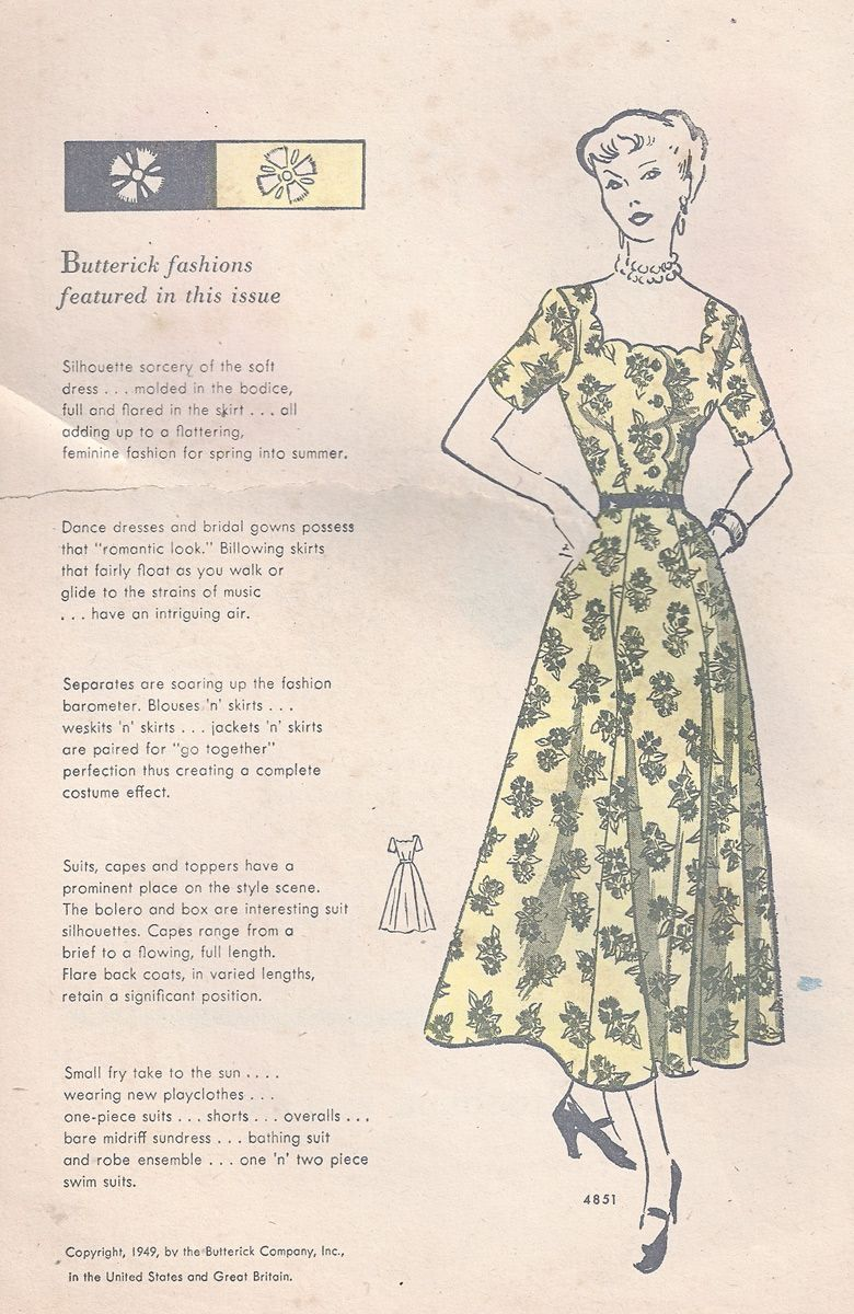 Late 40s early 50s dresses style