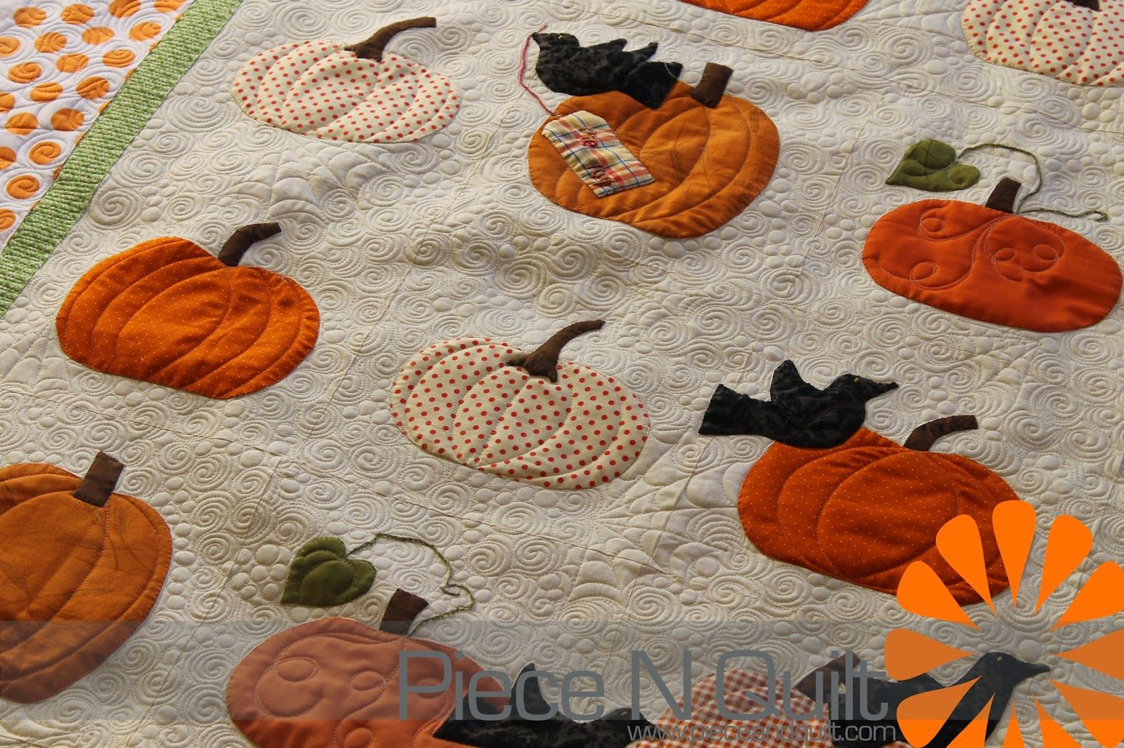 pumpkin quilts | This was such a fun quilt to machine quilt , thanks again for letting ...