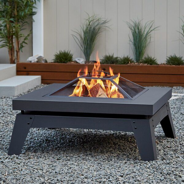Breton Steel Wood Burning Fire Pit Table In 2020 Wood Burning Fire Pit Wood Fire Pit Wood Burning Fires