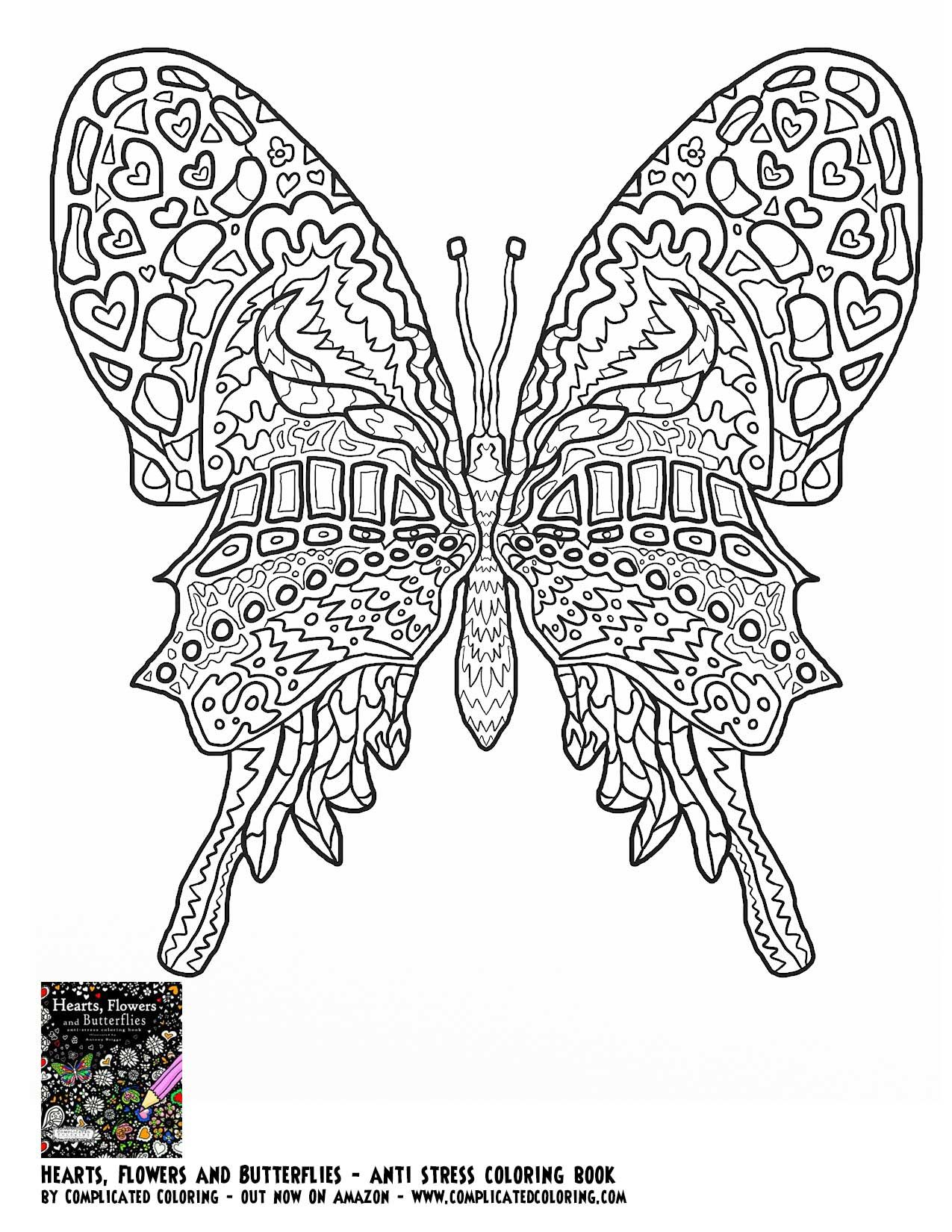 coloring pictures of flowers and butterflies butterfly hearts flowers and - Coloring Pages Flowers Hearts