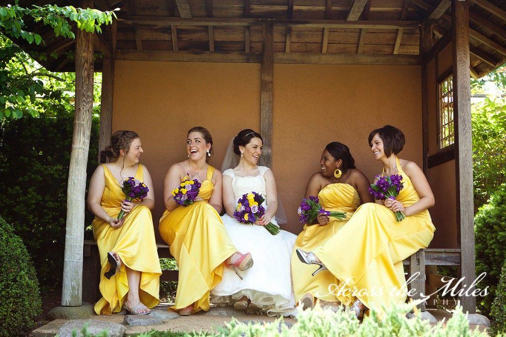 Yellow bridesmaid dresses with purple flowers wedding baby yellow bridesmaid dresses with purple flowers mightylinksfo