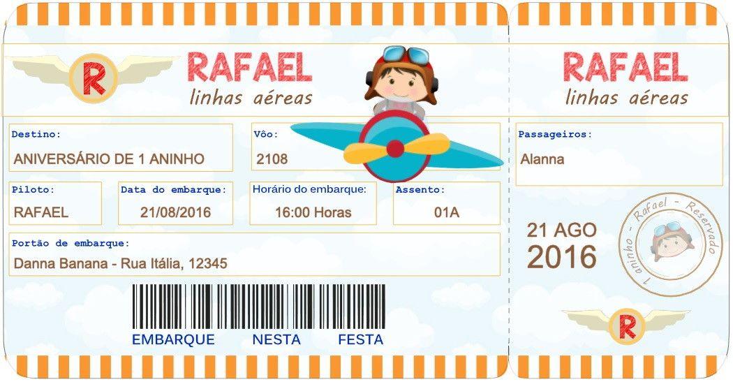Convite Digital Passagem de Avião O arquivo será enviado por e-mail. Nenhum  produto c216af47de