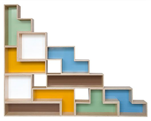 Unique Shelving Design With The Interesting Decoration: Tetra Flat Modular  Shelving ~ gtrinity.com