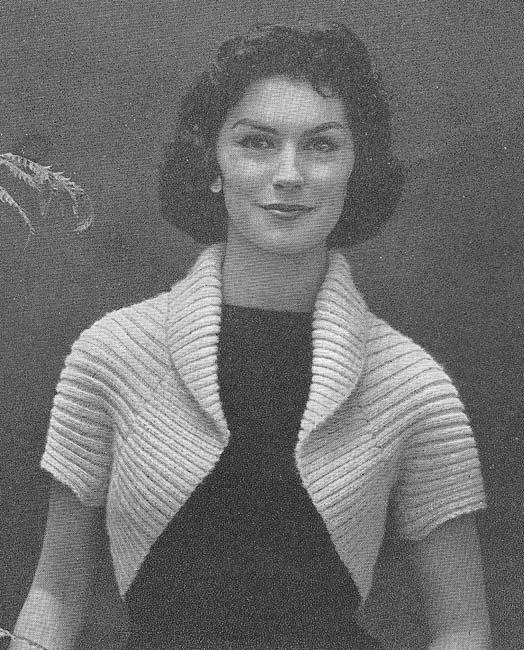 1950\'s Simple Shrug Vintage Knitting Pattern PDF Instant Download ...