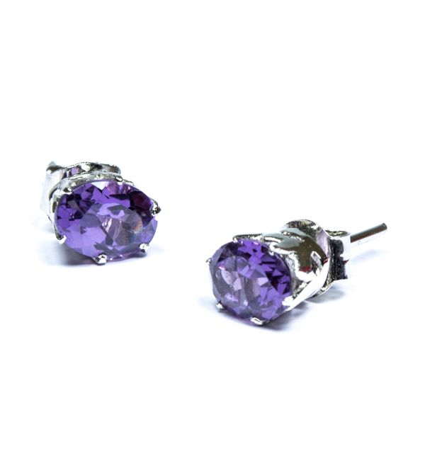Buy Silver and Amethyst Studs from Elmory
