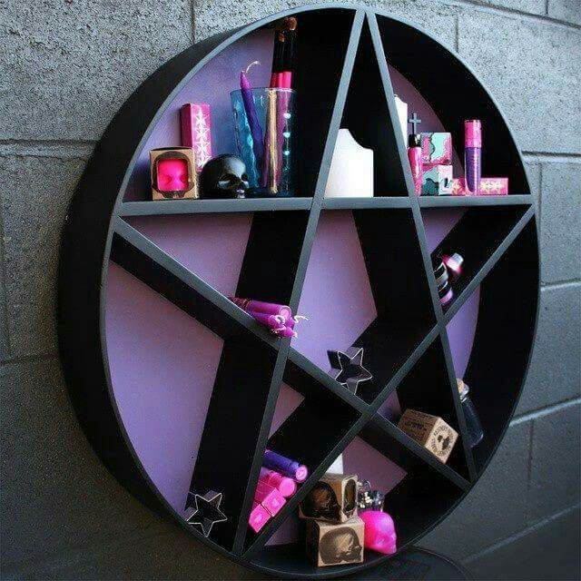 PENTAGRAM SHELF   Black U0026 Purple. Gothic Bedroom DecorGothic Home DecorGothic  InteriorCreepy ...
