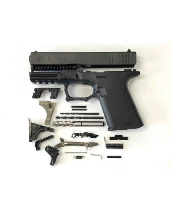 GLOCK COMPACT 80% PISTOL BUILD KIT UPPER U0026 LOWER PARTS KIT MADE WITH ALL  GLOCK PARTS, YOU PIC THE PISTOL CALIBER 19, 23, 32