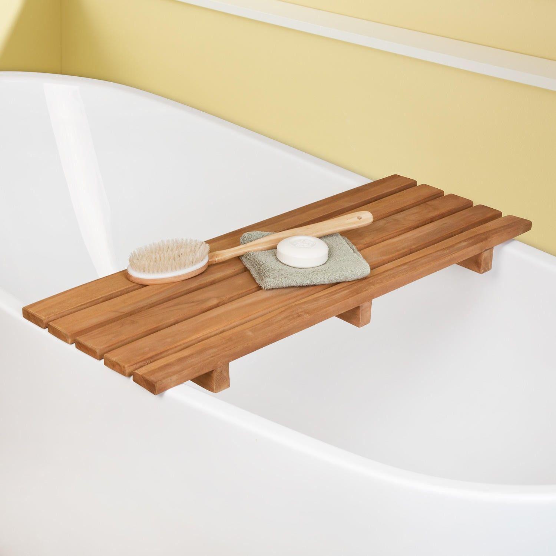 Teak Bathtub Shelf Clawfoot Tub Accessories Bathroom