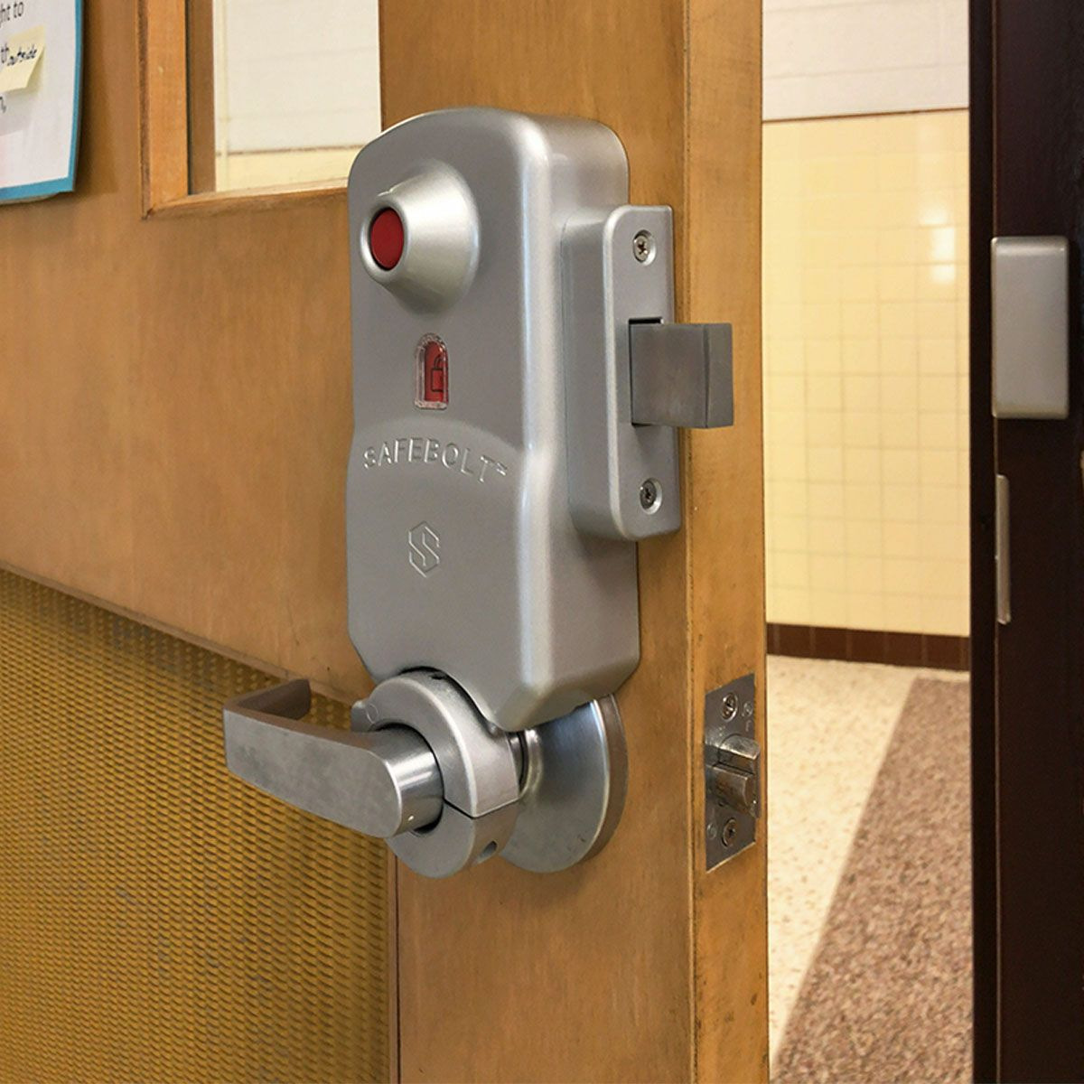 Safebolt School Lockdown Hardware Is The Fastest Way To Barricade A Classroom Door While Maintaining 100 Code Compliance An Door Handles Coding Installation