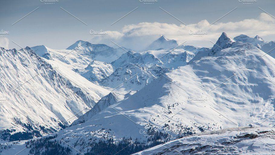 Winter Mountain Landscape Mountain Landscape Winter Mountain Landscape