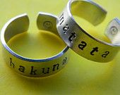 Hakuna Matata ring 1/4 inch by LindaMunequita on Etsy