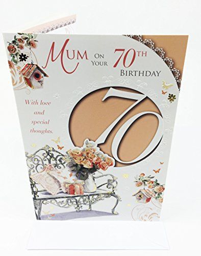 From 289 Mums 70th Birthday Card Large Greeting Card For Mum