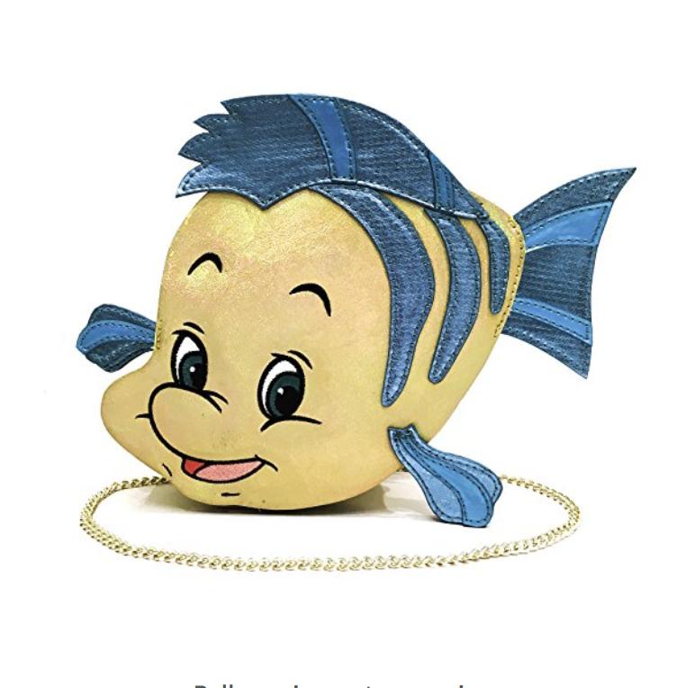 Disney Inspired Flounder Purse Adorable The Little Mermaid Danielle Nicole Disney Disney Little Mermaids Beige Shoulder Bags