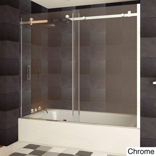 Wonderful LessCare Tempered Glass Semi Frameless Bathtub Door