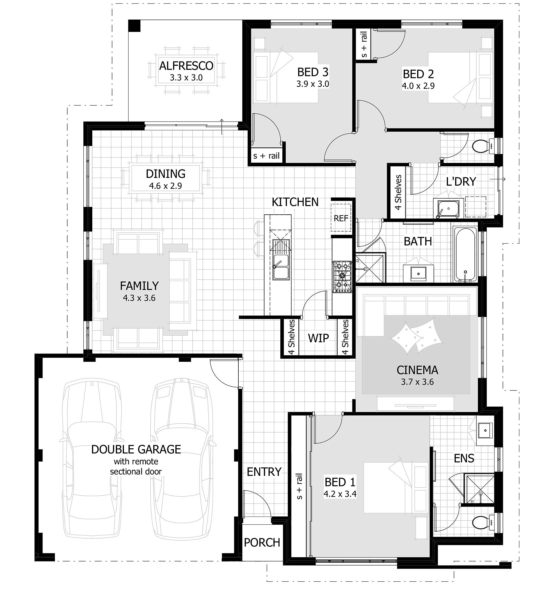 three bedroom modern house plans home ideas picture designs small ...
