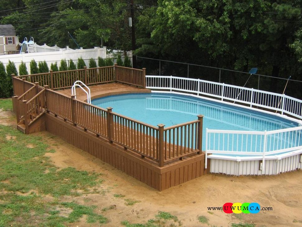 Swimming pool swimming pool deck ideas inground swimming for Wooden pool