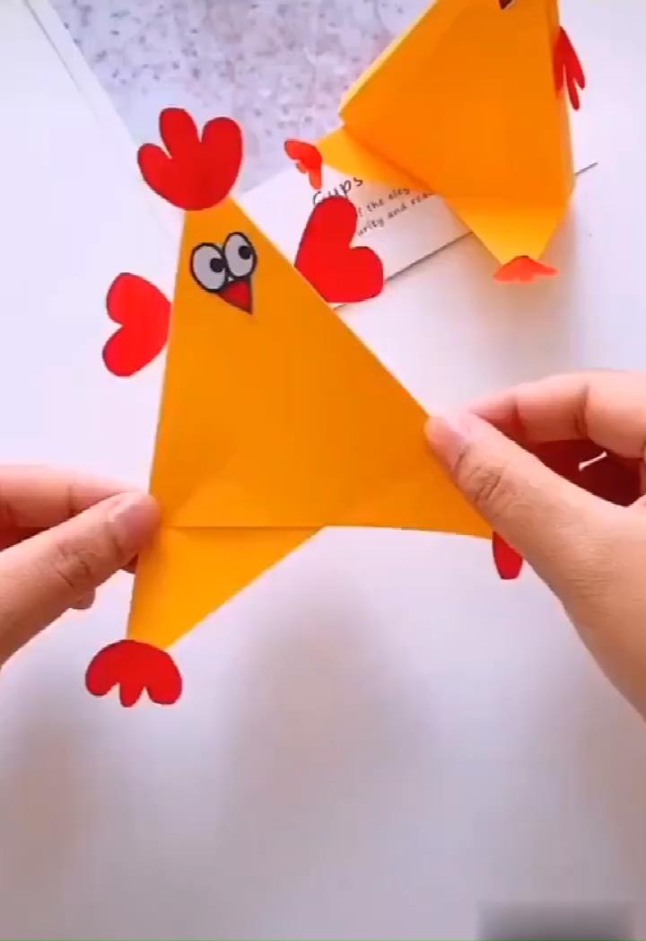 paper chicken #bastelideenkinder
