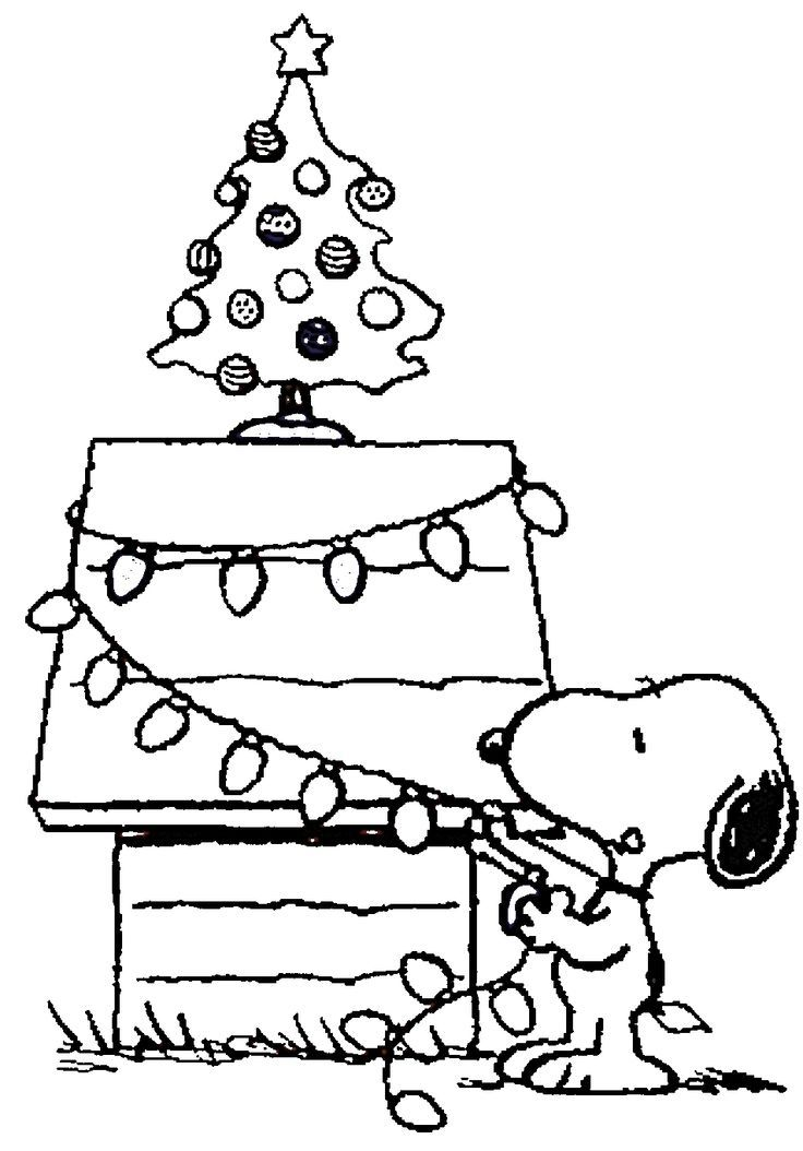 9 Best Christmas Coloring Pages Charlie Brown