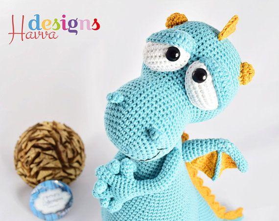 Crochet Pattern Blummy The Dragon Amigurumi Toy Pattern