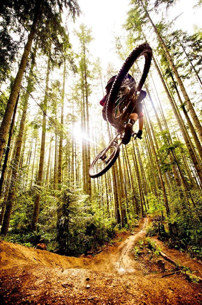 Flying Down The Trail Mountain Biking Bike Photography