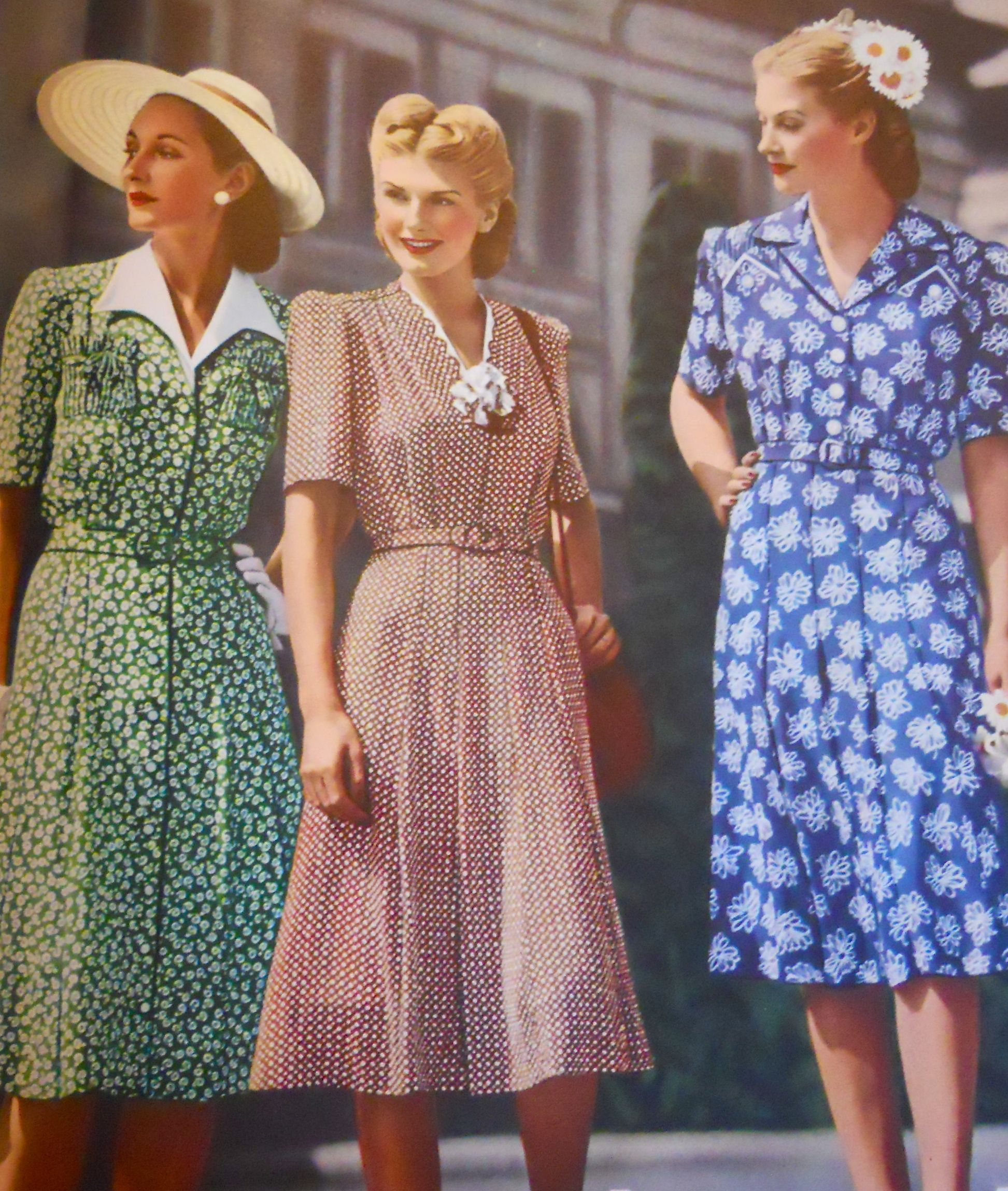 WWII era day dressing, 1944 | WWII | Pinterest | 1940s ...